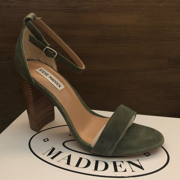 2018 shoes fashion styles latest discount Steve Madden olive green heels NWT
